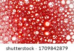 Texture Of Red Soap Foam