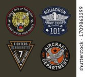 Label Of Military Typography ...