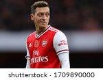 Small photo of Mesut Ozil of Arsenal - Arsenal v Wolverhampton Wanderers, Premier League, Emirates Stadium, London, UK - 2nd November 2019