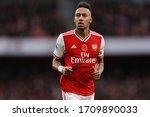 Small photo of Pierre-Emerick Aubameyang of Arsenal - Arsenal v Wolverhampton Wanderers, Premier League, Emirates Stadium, London, UK - 2nd November 2019