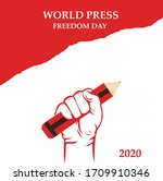 world press freedom day banner | Shutterstock .eps vector #1709910346