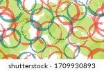 allover watercolor circles... | Shutterstock .eps vector #1709930893