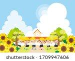illustration of a kindergartner ...   Shutterstock .eps vector #1709947606