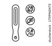 ultraviolet portable sterilizer ... | Shutterstock .eps vector #1709960473