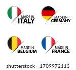 set of four italian  german ...   Shutterstock .eps vector #1709972113