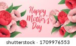 happy mothers day background... | Shutterstock .eps vector #1709976553