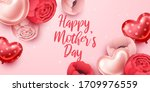 happy mothers day background... | Shutterstock .eps vector #1709976559