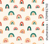 scandinavian rainbow seamless... | Shutterstock .eps vector #1709981743