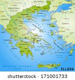 map of greece as an overview... | Shutterstock . vector #171001733