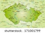 map of czech republic as an... | Shutterstock . vector #171001799