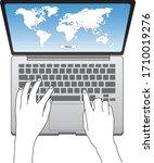 hand drawing illustration of... | Shutterstock .eps vector #1710019276