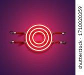 purple red high detailed neon...   Shutterstock .eps vector #1710020359