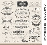 calligraphic design elements... | Shutterstock .eps vector #171005960