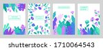 set of vector abstract summer... | Shutterstock .eps vector #1710064543