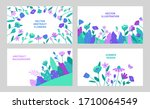 set of vector abstract summer... | Shutterstock .eps vector #1710064549