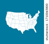 united states of america map.... | Shutterstock .eps vector #1710065800
