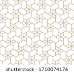 seamless geometric gold pattern.... | Shutterstock .eps vector #1710074176