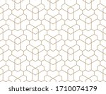 seamless geometric gold pattern.... | Shutterstock .eps vector #1710074179