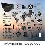 set elements of infographics on ... | Shutterstock .eps vector #171007790