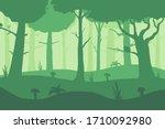 vector misty forest background. ...   Shutterstock .eps vector #1710092980