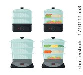 food steamer icons set in flat... | Shutterstock .eps vector #1710111553