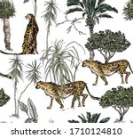 isolated animals wildlife and...   Shutterstock .eps vector #1710124810