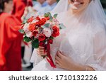 Bright Wedding Bouquet In The...