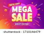 mega sale for web app banner....