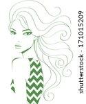 girl fashion   Shutterstock .eps vector #171015209