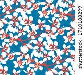 white sakura blossom on classic ... | Shutterstock .eps vector #1710188299