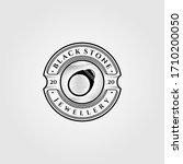 vintage black stone gems...   Shutterstock .eps vector #1710200050