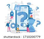 question mark in mobile....   Shutterstock .eps vector #1710200779