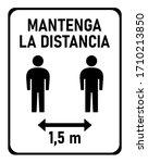 "mantenga la distancia  ""keep...   Shutterstock .eps vector #1710213850"