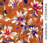 expressive abstract floral... | Shutterstock . vector #1710236416