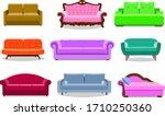 sofa colored vector set....   Shutterstock .eps vector #1710250360