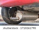 car exhaust  muffler  fallen... | Shutterstock . vector #1710261790