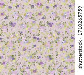 seamless floral pattern with...   Shutterstock .eps vector #1710265759