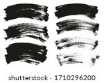 flat paint brush thin curved... | Shutterstock .eps vector #1710296200