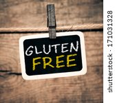 gluten free handwritten with... | Shutterstock . vector #171031328