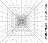 tunnel line depth illusion art... | Shutterstock .eps vector #1710313939