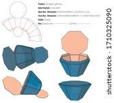 octagon gift box template die... | Shutterstock .eps vector #1710325090