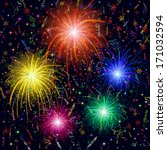 Firework  Bright Color Flashes...