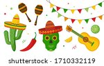 cinco de mayo celebration in... | Shutterstock .eps vector #1710332119