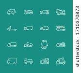 truck set of transport vector... | Shutterstock .eps vector #1710370873