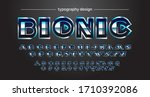 blue chrome futuristic font and ...   Shutterstock .eps vector #1710392086