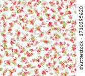 seamless ditsy pattern in small ... | Shutterstock .eps vector #1710395620