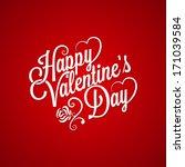 valentines day vintage... | Shutterstock . vector #171039584