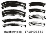 flat paint brush thin curved... | Shutterstock .eps vector #1710408556