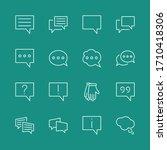 set of speech bubble chat...   Shutterstock .eps vector #1710418306