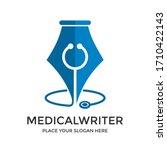 medical writer vector logo... | Shutterstock .eps vector #1710422143